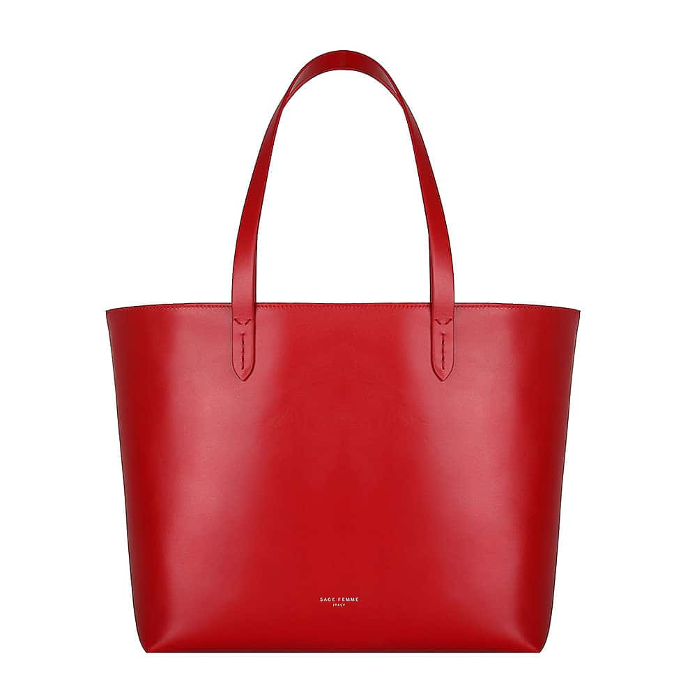 RED TOTE BAG - Sage Femme Italy