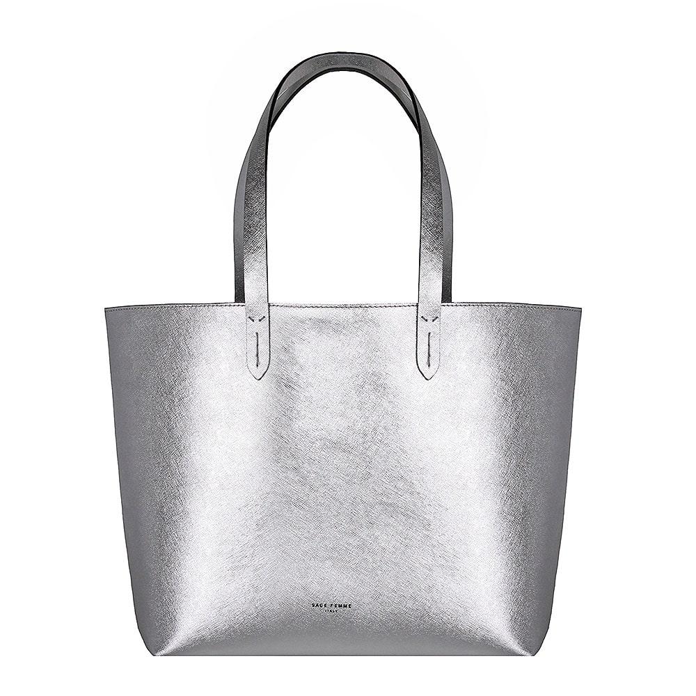 Silver Tote Bag KLVCwm0I
